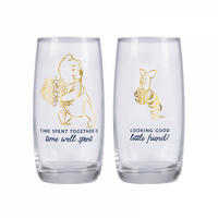 Set of 2 Winnie The Pooh & Piglet Glasses Thumbnail 1