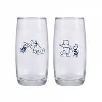 Set of 2 Winnie The Pooh & Piglet Glasses Thumbnail 2