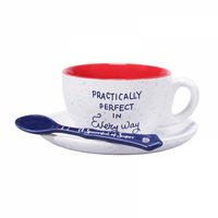 "Mary Poppins ""Practically Perfect In Every Way"" Cup & Saucer"