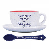 "Mary Poppins ""Practically Perfect In Every Way"" Cup & Saucer Thumbnail 2"