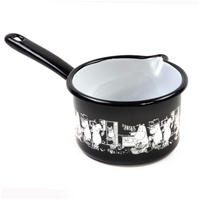 The Moomins In The Kitchen 1.3L Enamel Saucepan