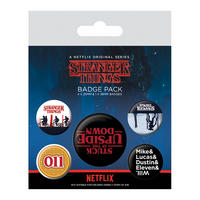Stranger Things The Upside Down Badge Set