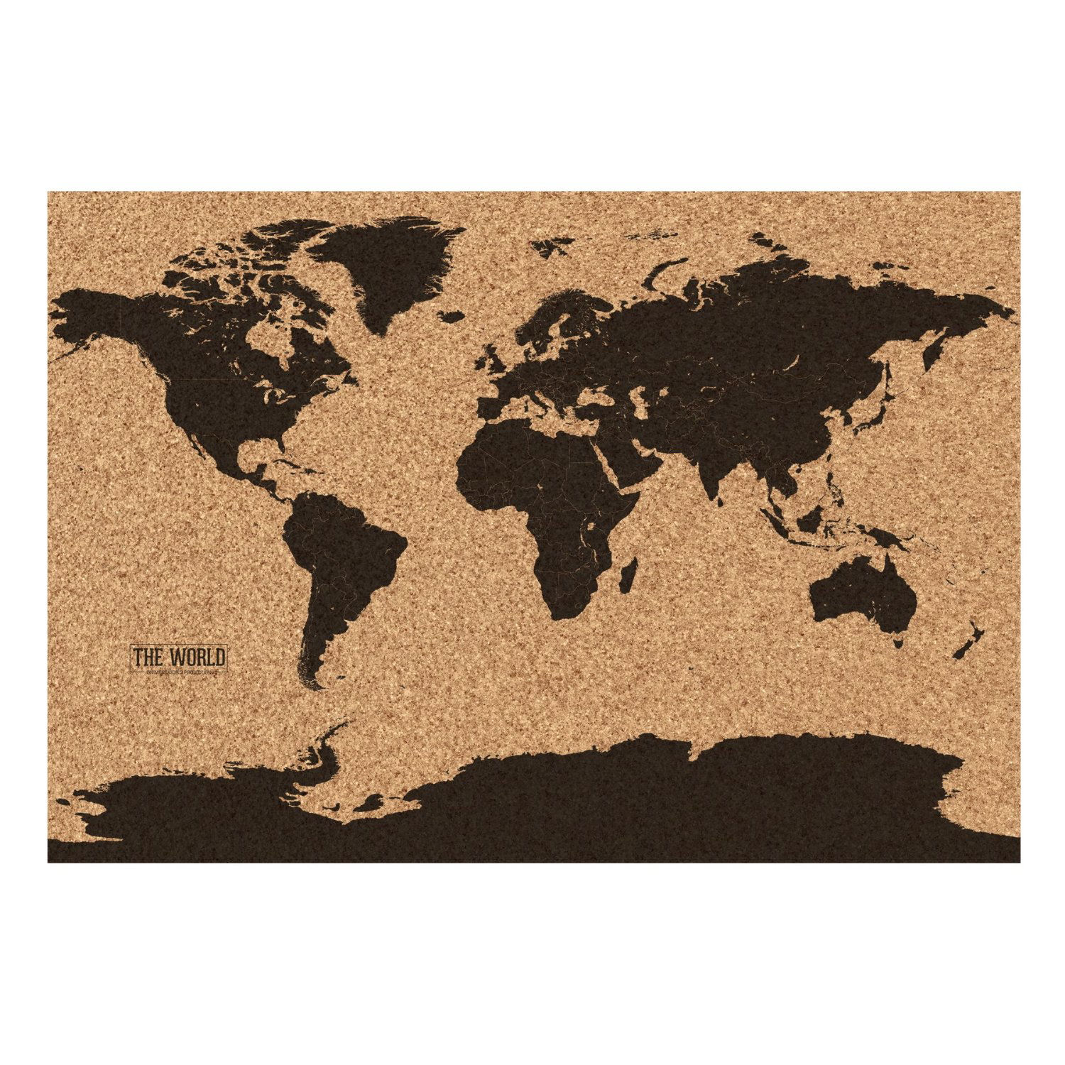 World map cork board vintage retro wall art kitchen notes travel world map cork board vintage retro wall art kitchen notes travel holiday gift gumiabroncs Images
