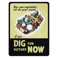 """Dig For Victory Now"" Fridge Magnet"