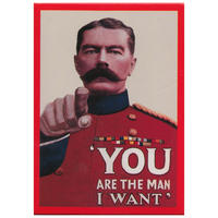 """You Are The Man I Want"" Lord Kitchener Fridge Magnet"