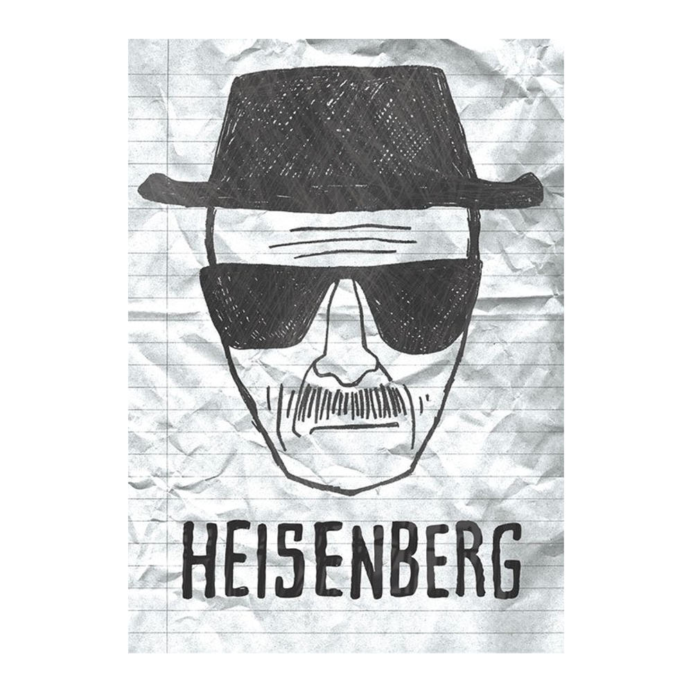 Breaking Bad Heisenberg Sketch Postcard