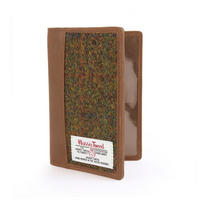 Passport Holder with Harris Tweed Olive & Tan Tartan Thumbnail 1