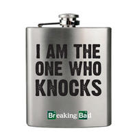 "Breaking Bad ""I Am The One Who Knocks"" Hip Flask Thumbnail 1"
