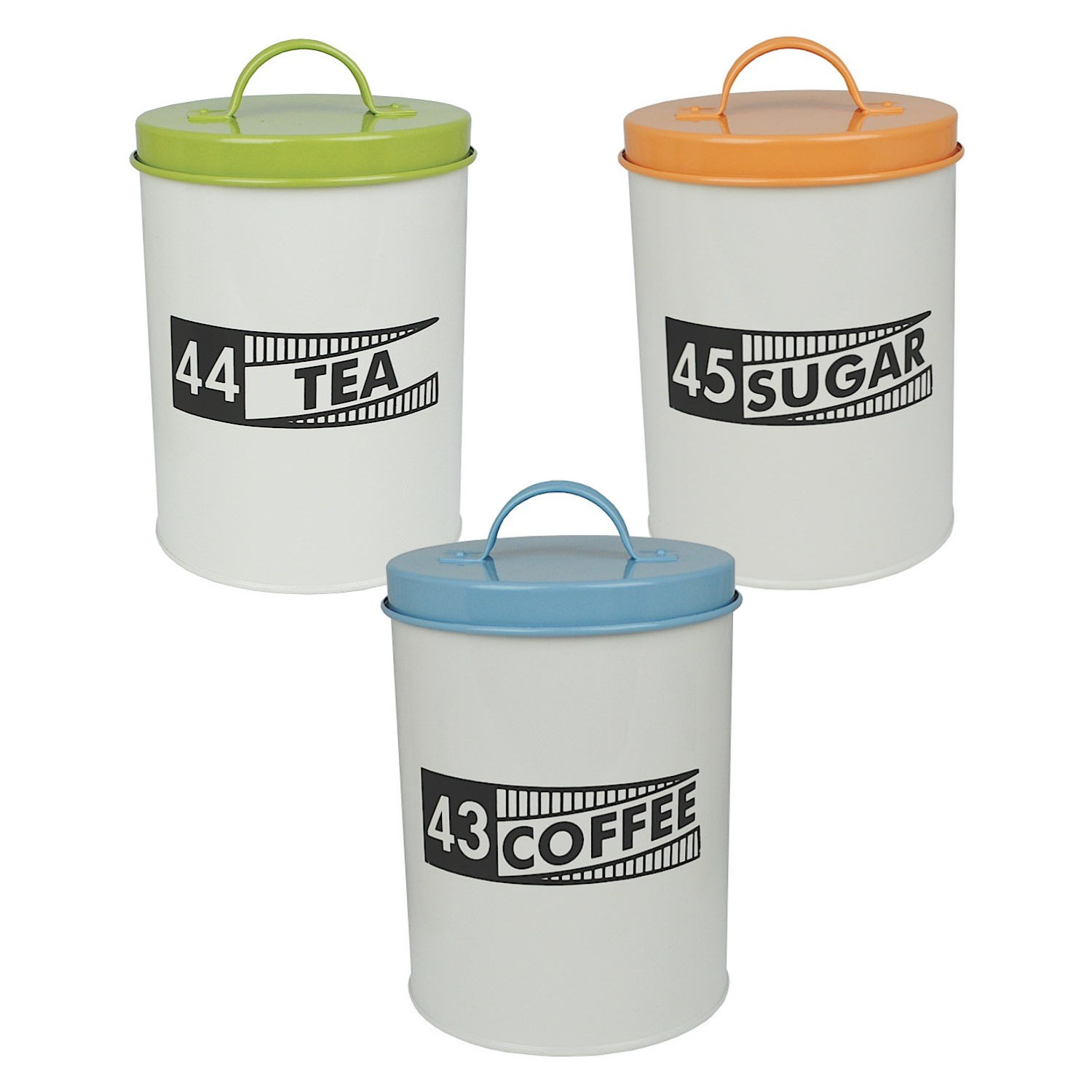 kitchen storage canisters bundle 3 coffee tea sugar ration tin canisters kitchen 13810