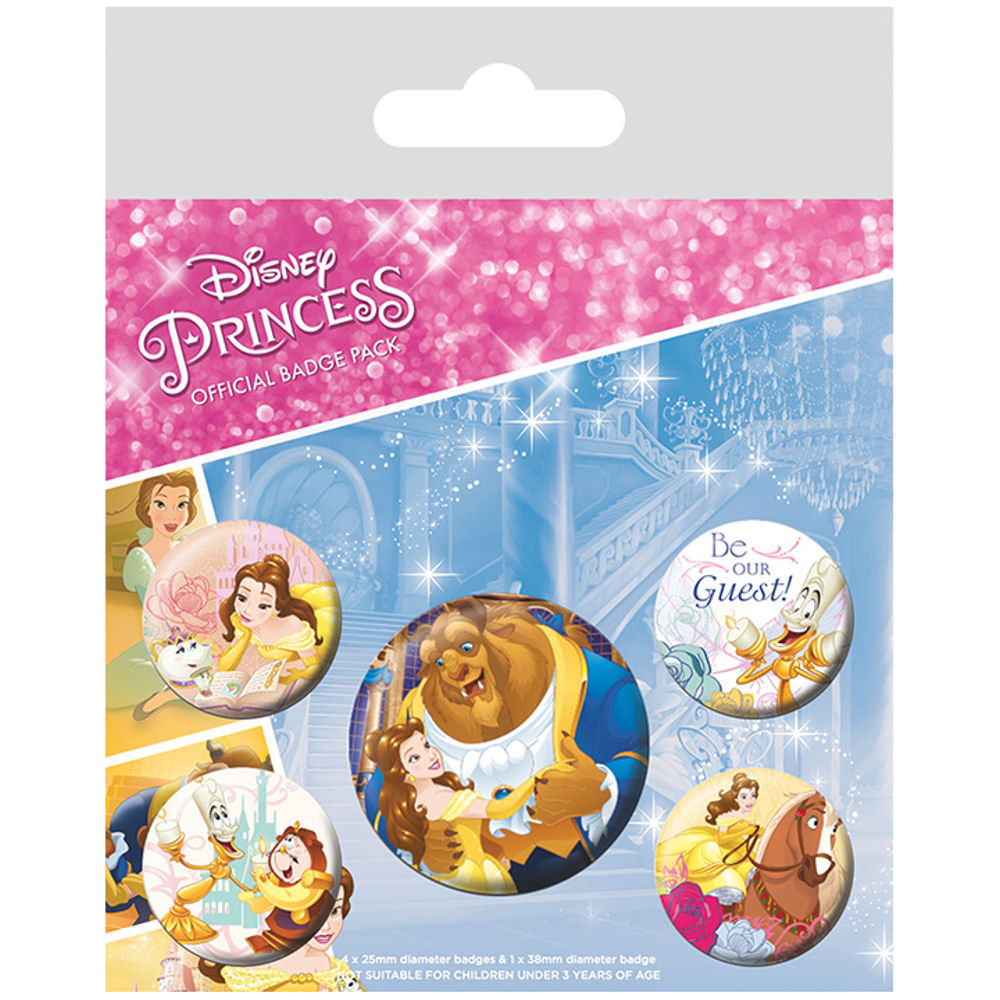 Beauty & The Beast Badge Set