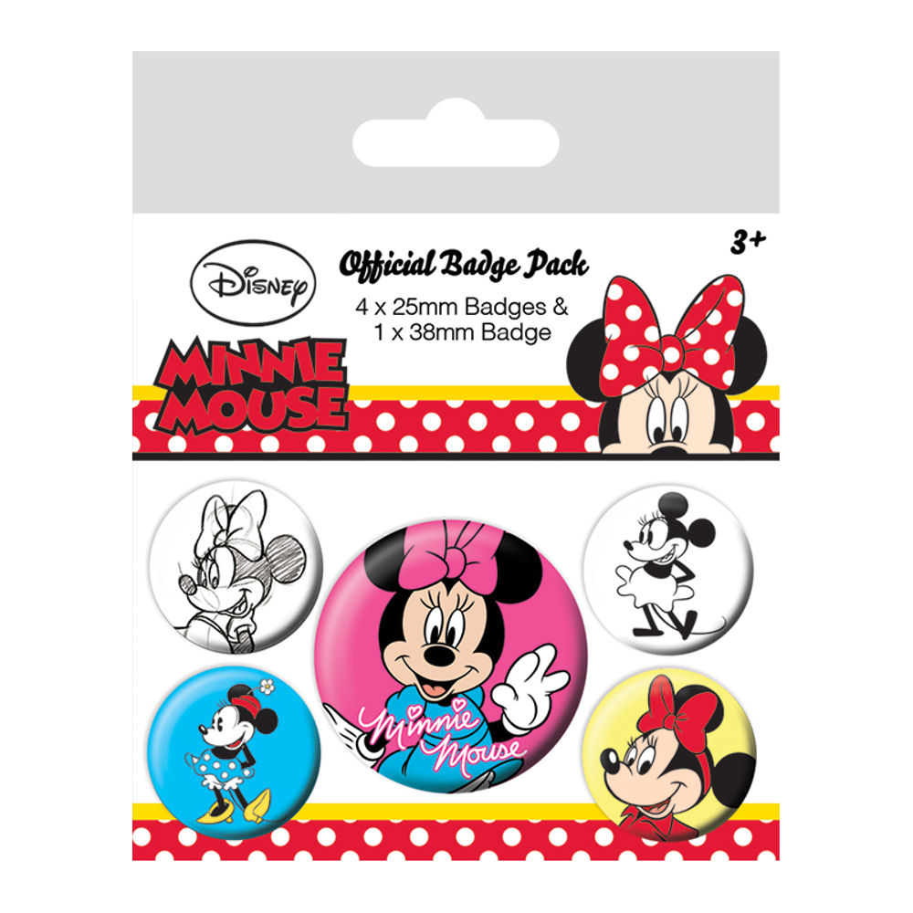 Minnie Mouse Through The Ages Badge Set
