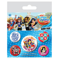 DC Super Hero Girls Badge Set Thumbnail 1