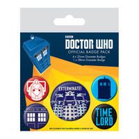 Doctor Who Exterminate Badge Set Thumbnail 1