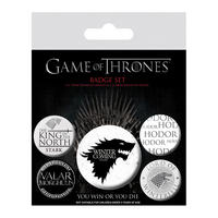 Game Of Thrones Winter Is Coming Badge Set Thumbnail 1