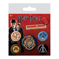Harry Potter Hogwarts Badge Set