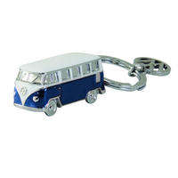 3D Blue VW Collection Camper Van Metal Keyring