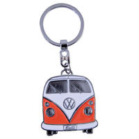 VW Collection Orange Camper Van Enamel Keyring
