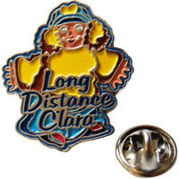 Pigeon Street Long Distance Clara Pin Badge