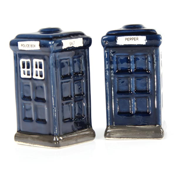Police Box Ceramic Salt & Pepper Pots