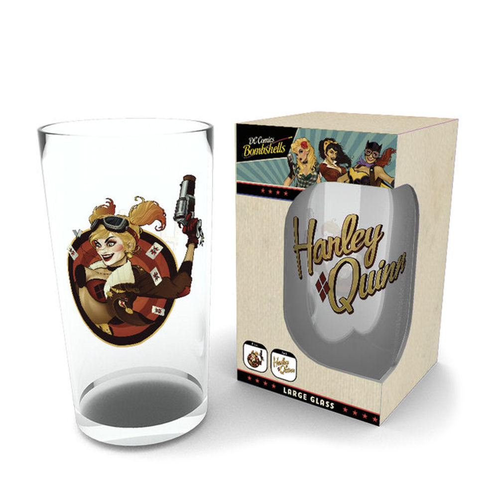 Harley Quinn Bombshell Large Glass