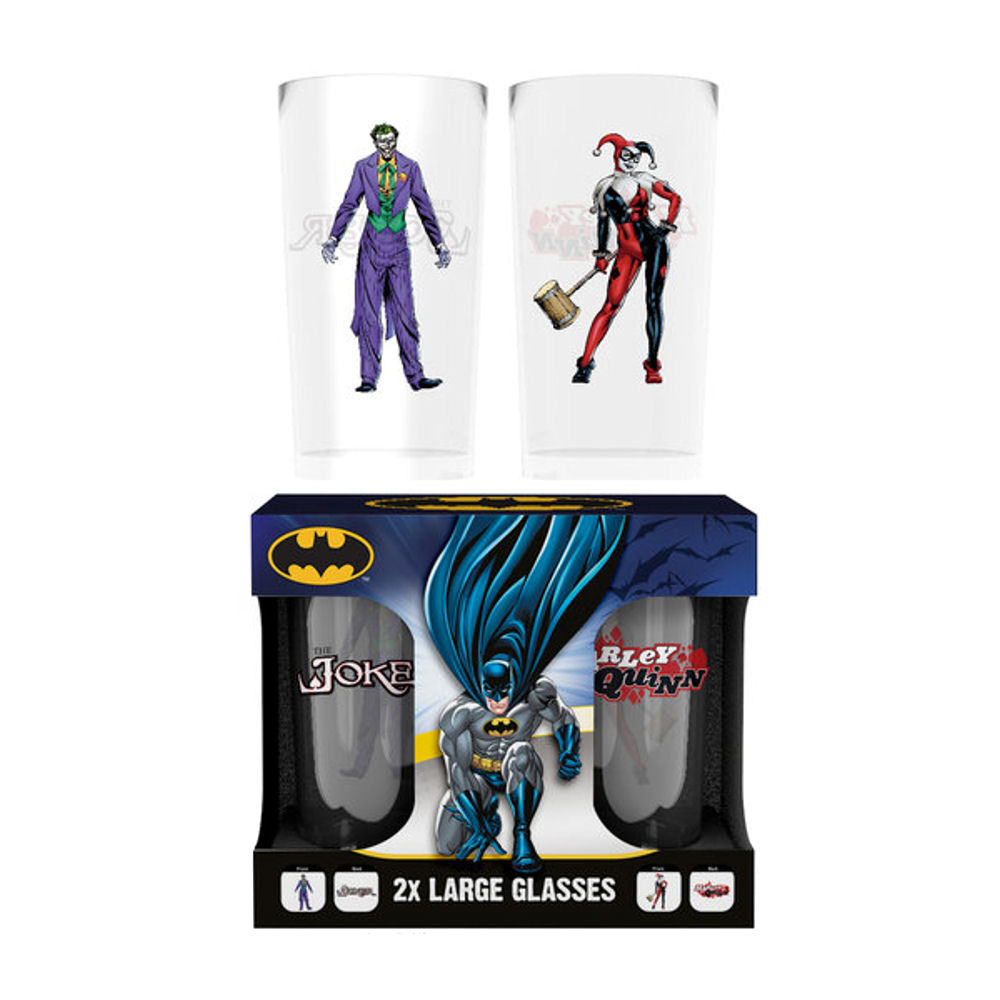 The Joker & Harley Quinn Set Of 2 Glasses