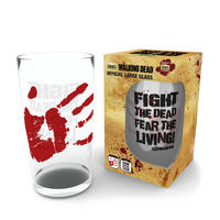 "The Walking Dead ""Fight The Dead, Fear The Living"" Large Glass"