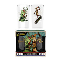 DC Bombshells Harley Quinn & Poison Ivy Set Of 2 Glasses Thumbnail 1