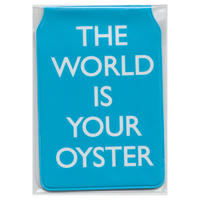 """The World Is Your Oyster"" Travel/Oyster Card Holder (blue) Thumbnail 2"