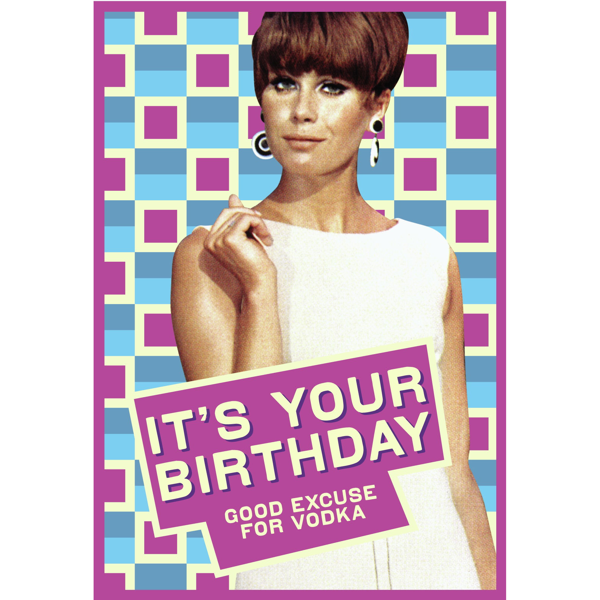 Its your birthday good excuse for vodka greeting card retro birthday its your birthday good excuse for vodka greeting card retro birthday humour gift bookmarktalkfo Gallery