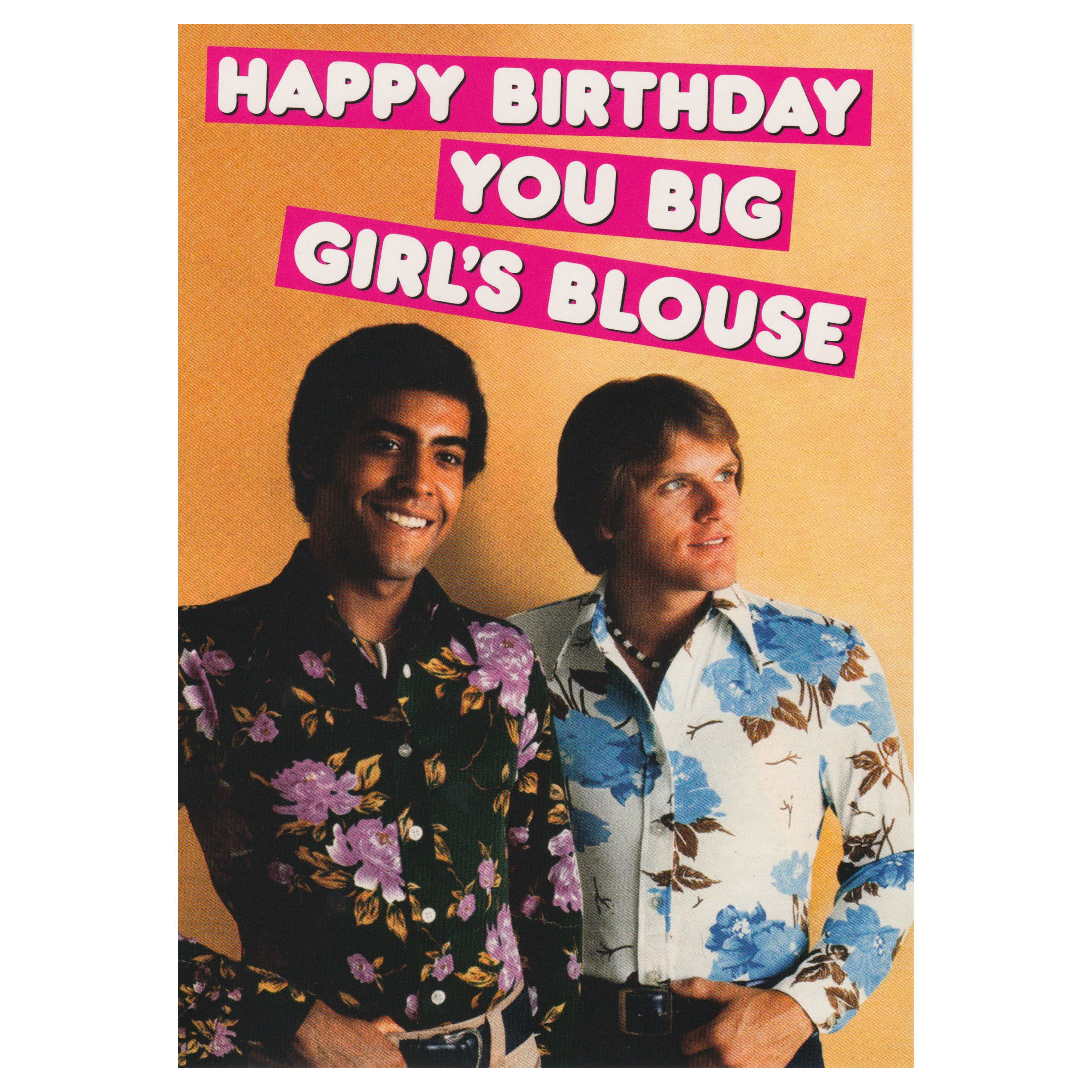 HAPPY BIRTHDAY YOU BIG GIRLS BLOUSE GREETING CARD RETRO HUMOUR