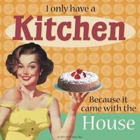 I Only Have A Kitchen Because It Came With The House Single Coaster