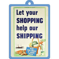 Let Your Shopping Help Our Shipping Metal Keyring