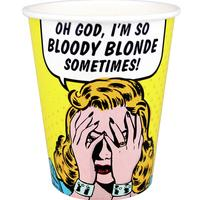 8 Paper Cups So Bloody Blonde