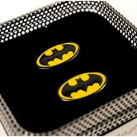 Yellow & Black Batman Logo Cufflinks Thumbnail 2