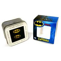 Yellow & Black Batman Logo Cufflinks Thumbnail 3