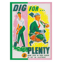 Dig For Plenty Fridge Magnet
