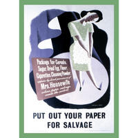 Put out your paper for Salvage Put out your paper for Salvage Fridge Magnet