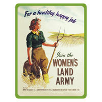 Women's Land Army Fridge Magnet