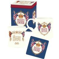 Britain's National Drink Mug & Coaster Set In A Tin Thumbnail 1