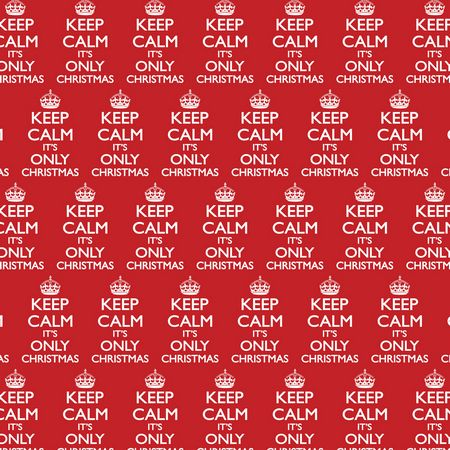 Keep Calm It's Only Christmas Gift Wrap x 3 Sheets