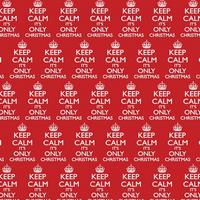 Keep Calm It's Only Christmas Gift Wrap x 3 Sheets Thumbnail 1