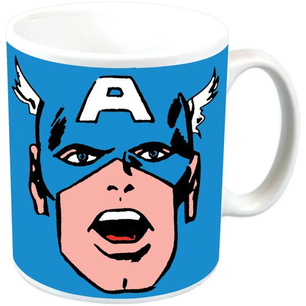 Captain America Face Ceramic Mug