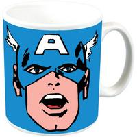 Captain America Face Ceramic Mug Thumbnail 1