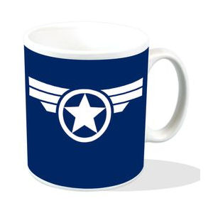 Captain America Super Soldier Logo Mug