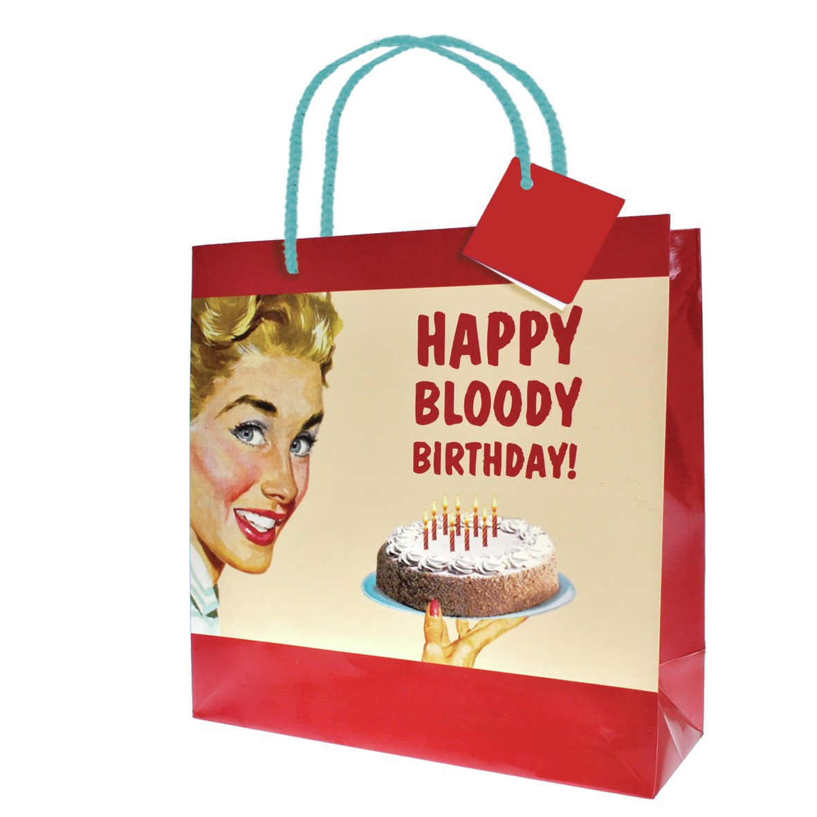 Details About NEW 32cm LARGE HAPPY BLOODY BIRTHDAY GIFT BAG PRESENT WRAPPING PAPER ADULT RETRO