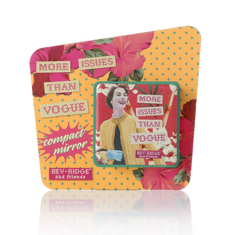 "Bev Ridge & Friends ""More Issues Than Vogue"" Square Compact Mirror"