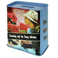 Saving Up To Buy Shoes Tin Money Box