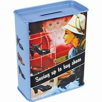 Saving Up To Buy Shoes Tin Money Box Thumbnail 2