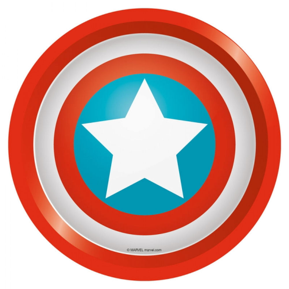 Captain America Shield Round Tin Tray