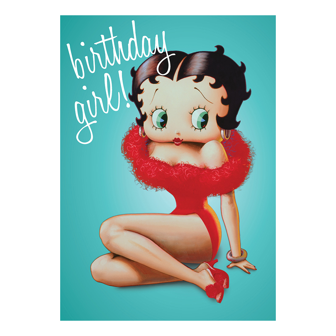 BETTY BOOP BIRTHDAY GIRL GREETING CARD GIFT BLANK RETRO VINTAGE CARTOON HER